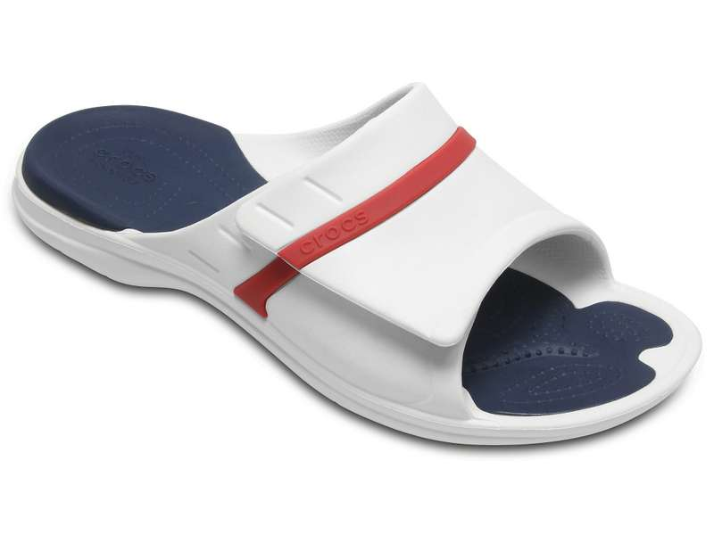 59b5a3b571d36 Klapki CROCS MODI SPORT SLIDE WHITE/NAVY/PEPPER